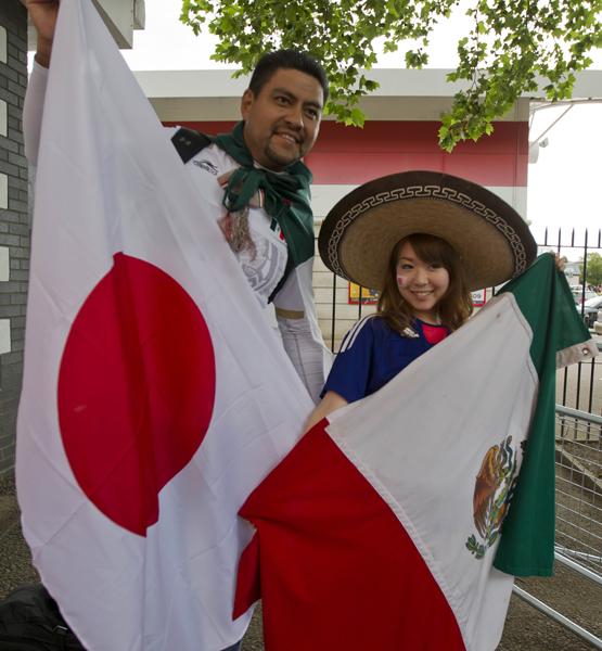 COLOR DEL PARTIDO DE SEMIFIFINAL EN TRE MEXICO Y JAPON DURANTE LOS JUEGOS OLIMPICOS DE LONDRES 2012 EN EL ESTADIO DE WEMBLEY