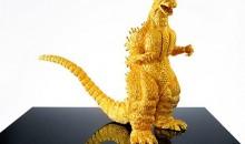 Godzilla de oro puro a la venta en Japón