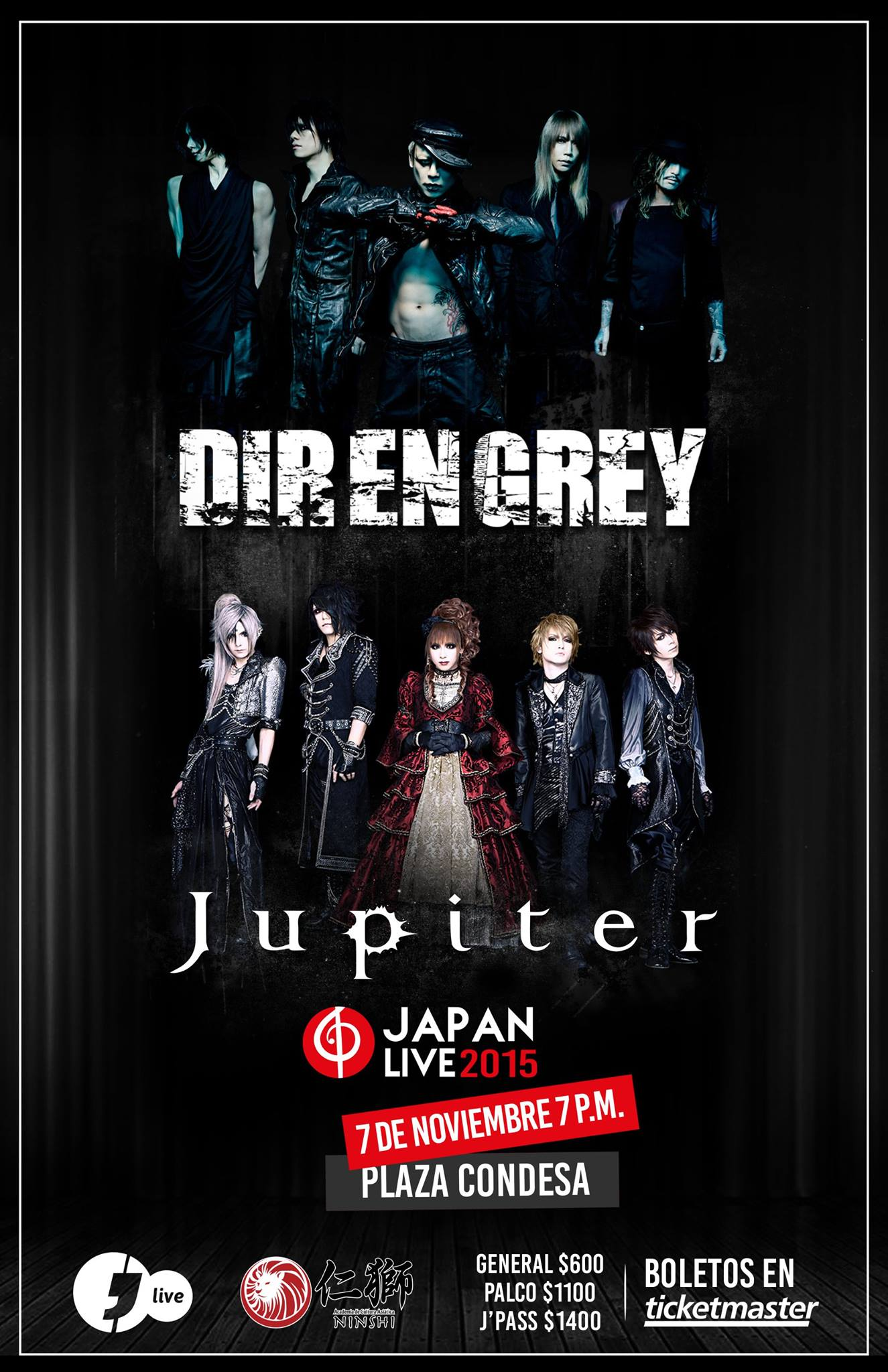 Japan Live 2015 : Dir en Grey y Jupiter
