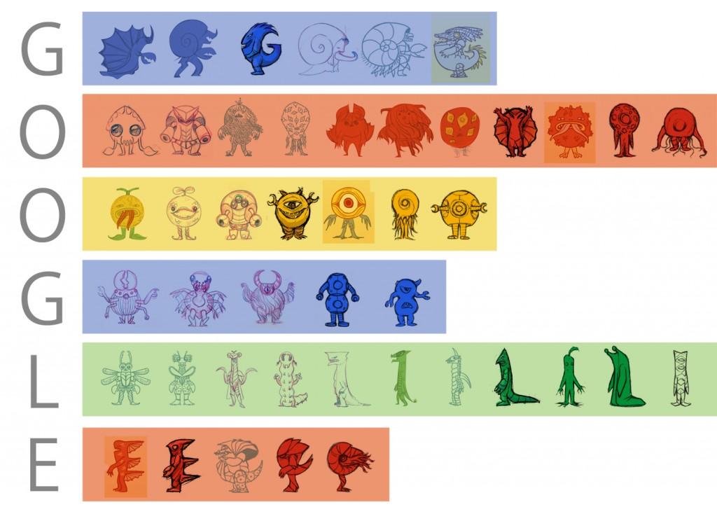 Eiji Tsuburaya Google Doodle monsters
