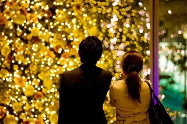 parejas en navidad japon