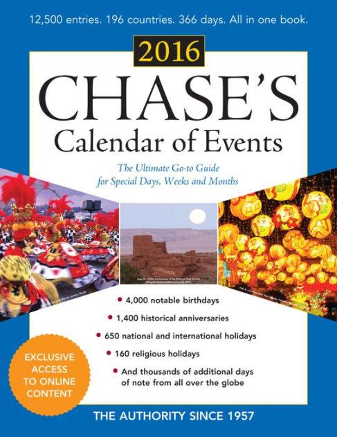 Calendario de Eventos de Chase