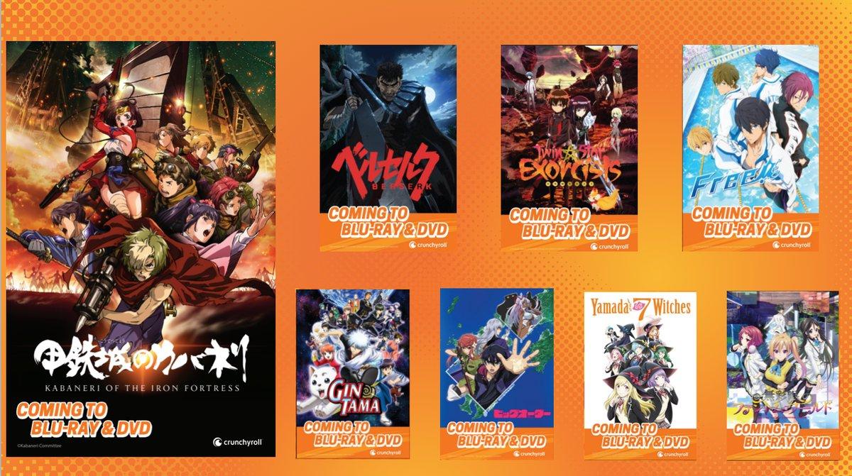 Crunchyroll lanzamientos en BD y DVD