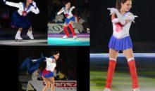 Naoko Takeuchi sorprende a patinadora Evgenia Medvedeva