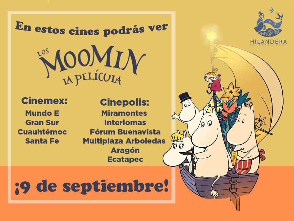 Moomin en Mexico cines