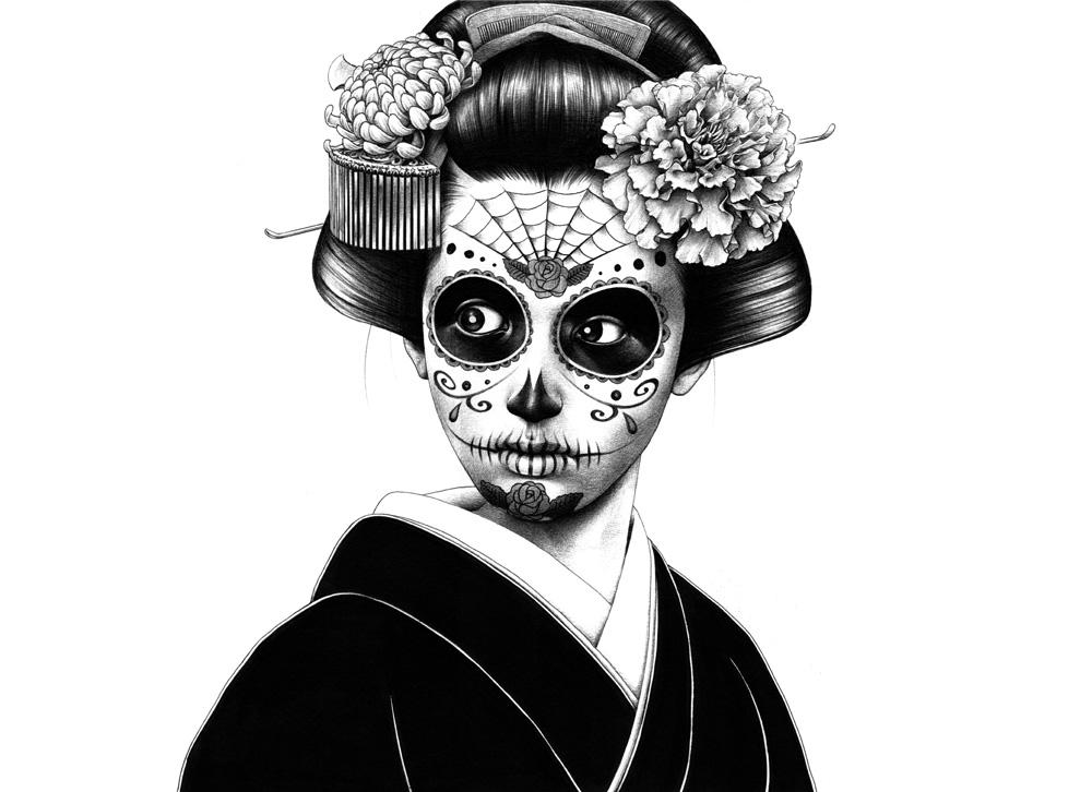 Geishas Y Catrinas Concurso De Pintura Dibujo E Ilustración Gentokyo