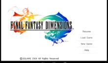 Final Fantasy Dimensions II llegará a Occidente
